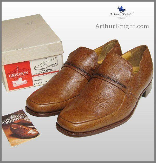 GRENSON Classic Footmaster Genuine Gazelle Leather Rare Vintage English shoes