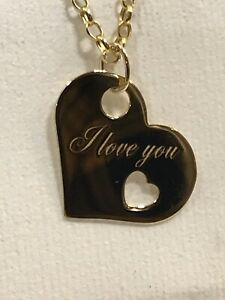 9ct 375 Hallmarked Solid Yellow Gold HEARTH Charm PENDANT FOR WOMAN GIFT