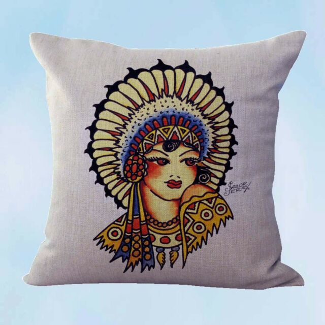 US SELLER Sailor Jerry tattoo American eagle cushion cover decorative pillows
