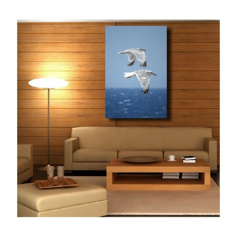 Canvas Fabric Deco Rectangle greenical Seagull 12290167
