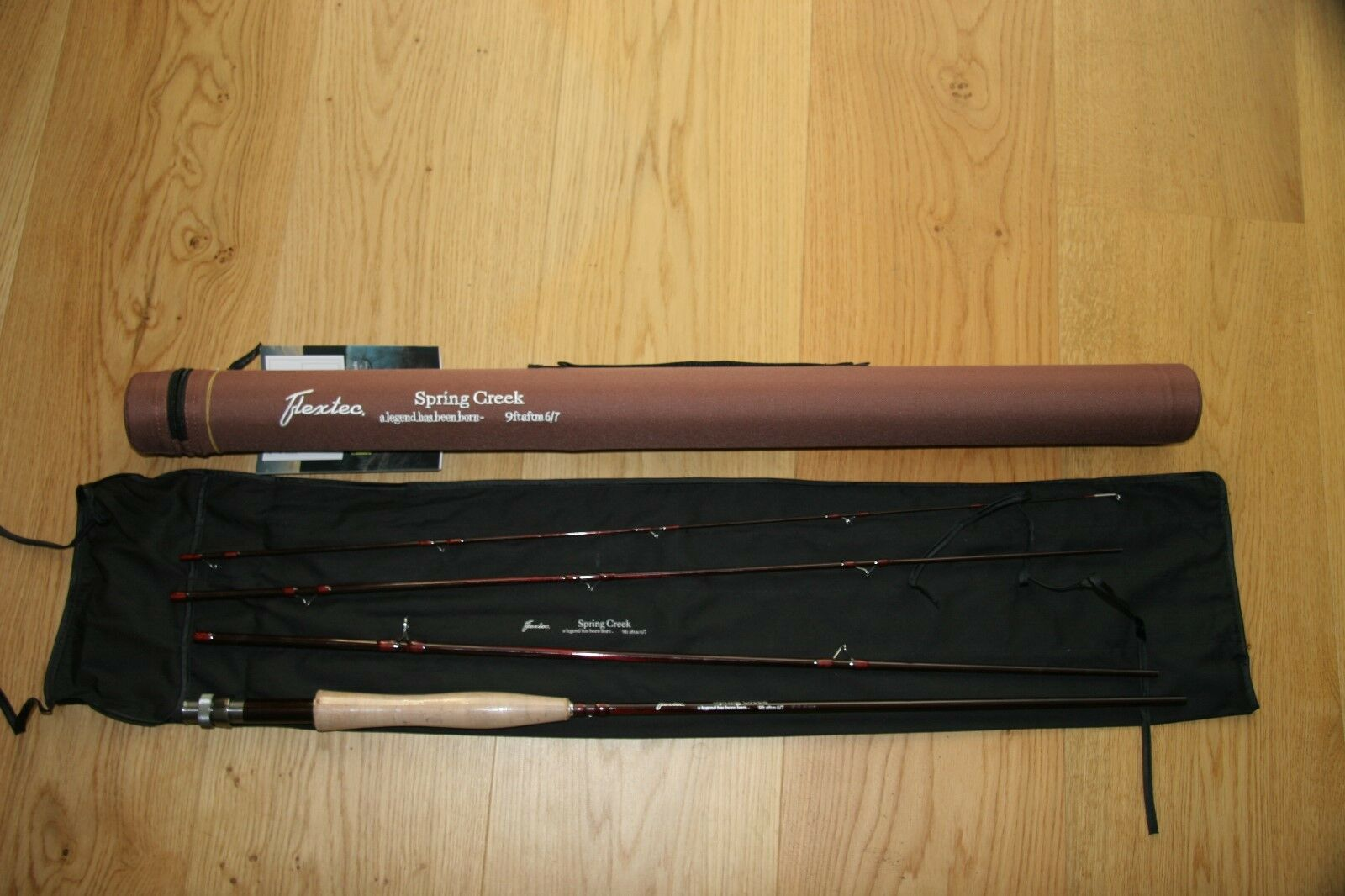 Flextec Spring Creek Trout Fly Fishing Rod 9ft AFTM 7/8 7/8 7/8 Hard Cordura Case 55ba25