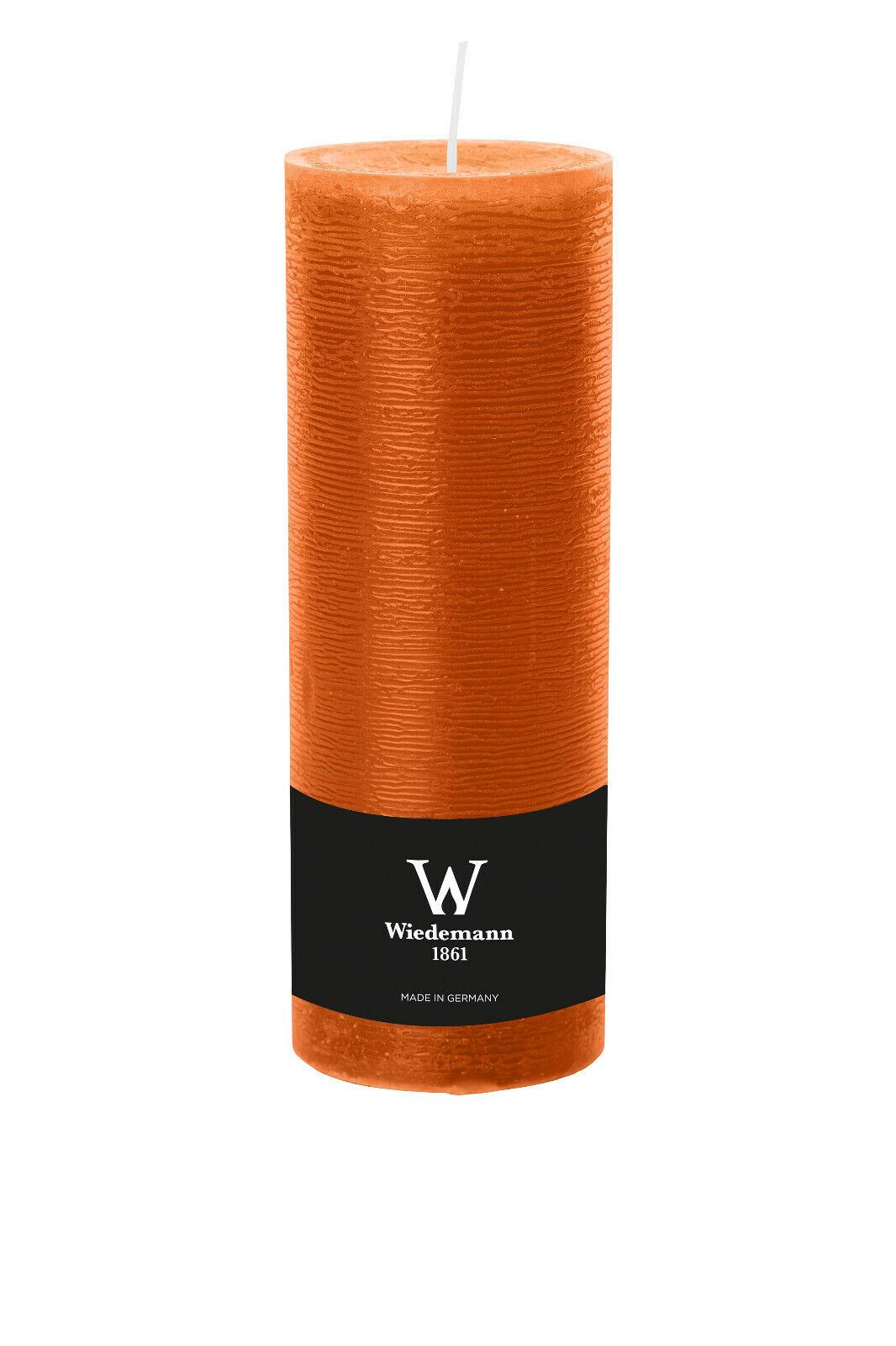 4x Kerzen 300x98mm Farbe Dukat durchgefärbte Rustik Kerzen- Kerzen Wiedemann
