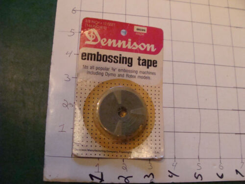 vintage Unused Dennison embossing tape, BROWN 12 FEET SEALED for DYMO or ROTEX