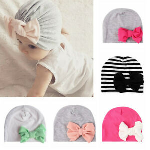 Boy-Girl-Toddler-Kids-Cotton-Bowknot-Turban-Hat-Beanies-Warm-Caps-Cute-Baby-Hat