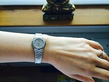 Women's Classic Ebel Wave Steel And Diamond Watch Excellent Condition