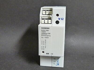 Siemens 5WG1 260-1AB01 EIB KNX Binäreingang 4fach N 260//01 AC230V