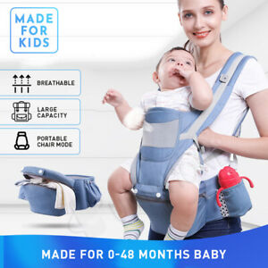 Ergonomic-Infant-Baby-Carrier-With-Hip-Seat-Stool-Adjustable-Wrap-Sling-Backpack