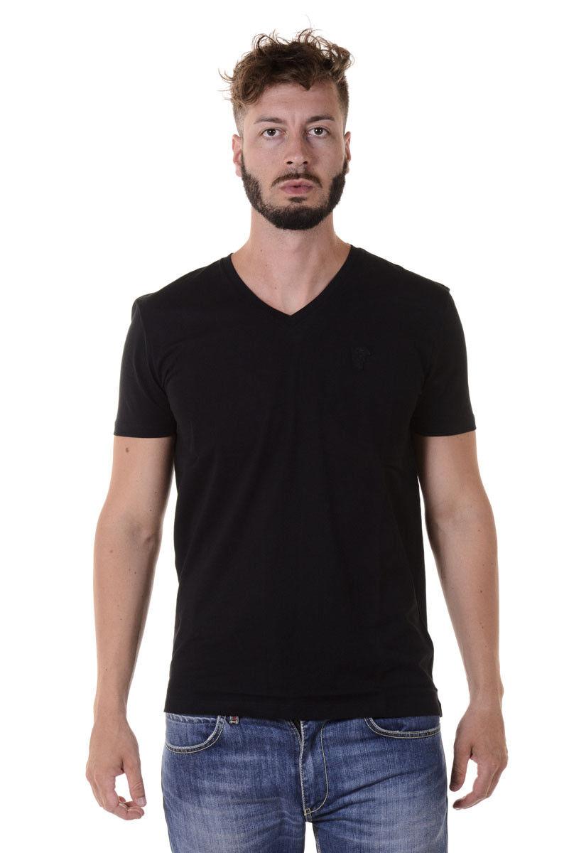 T hemd Versace Collection schweißhemd Cotone herren schwarz V800490VJ00180 V1008