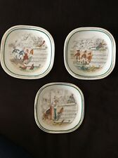 Vintage Rare 1880's PV French Opera Plates No. 3, 8,11