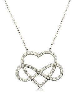 Das Bild wird geladen Herz-Unendlichkeit-Infinity-Anhaenger-Halskette -Collier-925-Sterling- 1571f804db