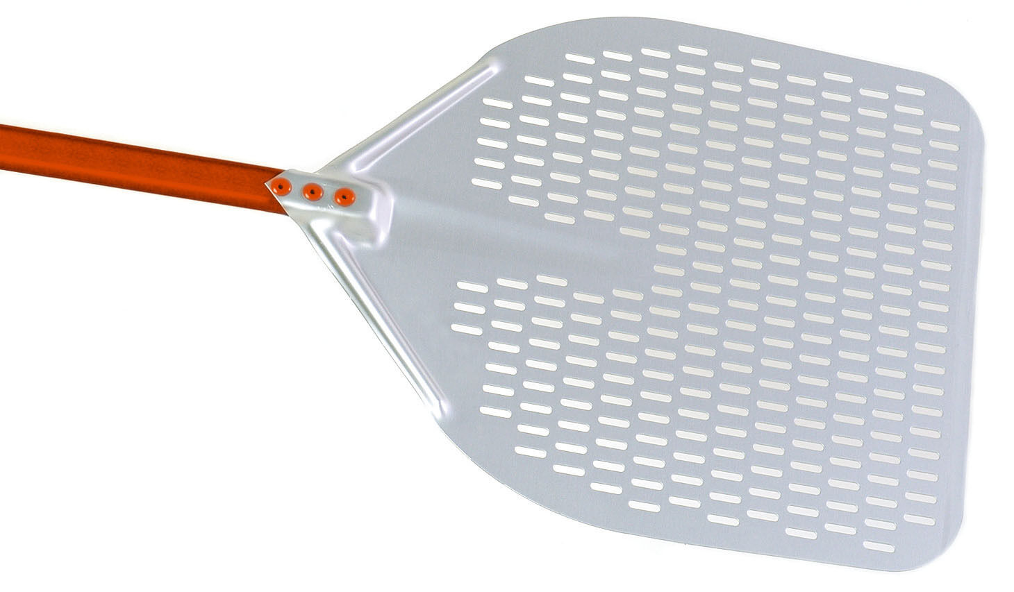 Pentole Agnelli Pala per pizza rettangolare forata in lega di alluminio manico c