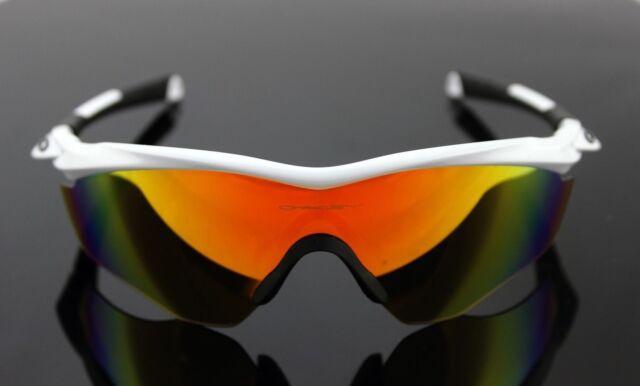 09a2fa40561 NEW Genuine OAKLEY M2 FRAME XL White Fire Iridium Shield Sunglasses OO  9343-05