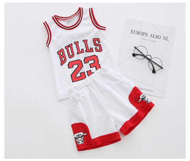 11fcaf96fd9780 Kids Baby Boys Girls  23 Michael Jordan Bulls Basketball Jerseys ...