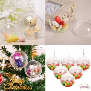 Clear Christmas Ornaments.Details About 40pcs 10cm Shatterproof Clear Christmas Tree Baubles Fillable Ornaments Balls