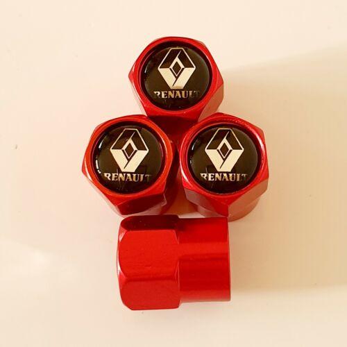 Tapones de polvo Renault Metal Rueda Válvula todos los modelos Rojo 5 Colores Cilo RS megane