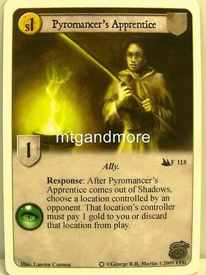 A Game of Thrones LCG - 1x Pyromancer's Apprentice #118 - Ice and Fire Draft Pac
