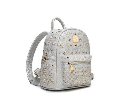 in bianco moda Borsa viaggio tracolla argento nera zaino scuola da donna oro donna a pelle 7qzarWq1g