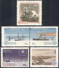 Russia 1965 Arctic/Antarctic/Polar/Ships/Boats/Radio/Nautical/Transport 5v b3238