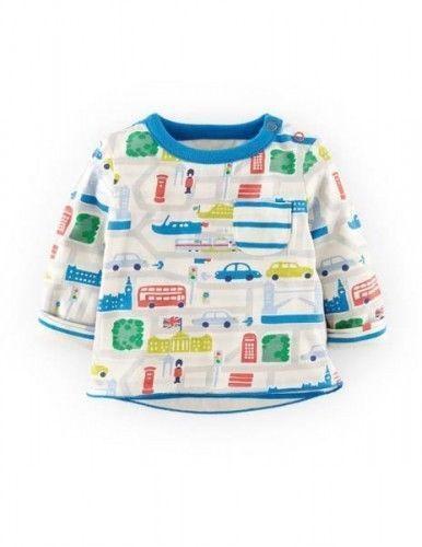 Bébé garçons ex mini boden réversible haut tshirt 0 3 6 12 18 24 2 3 ans véhicules