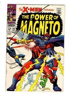 X-Men-43-FN-VF-7-0-Magneto-Quicksilver-Scarlet-Witch-Cyclops-Marvel-Girl