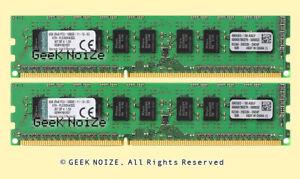 Kingston-ECC-Unbuffered-16GB-2x-8GB-PC3-12800E-DDR3-1600MHz-2Rx8-1-5v-Memory-LOT