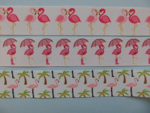 "Flamingo Cartoon Pink Grosgrain Ribbon 1/"" 25mm 5//8/"" **DIFFERENT STYLES**"