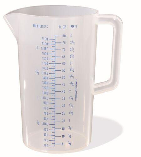 Stewart Plastic Measuring Jug 500ml ~ 1L ~ 2L ~ 2.2L ~ BPA Free