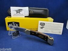 Buck 50th Anniv. 110  Limited Folding Hunter Knife & Leather Sheath Mint In Box