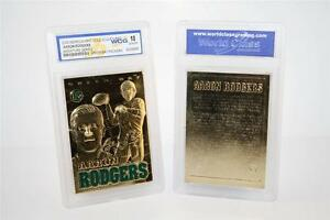 AARON-RODGERS-Sculptured-Gold-Card-Graded-GEM-MINT-10-Green-Bay-Packers-BOGO