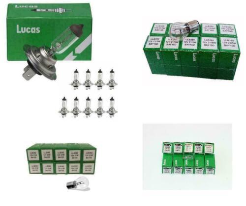 10x 380 10x 382 /& 10x 501 Free Trade Pack 10x Lucas H7 Headlamp Bulbs