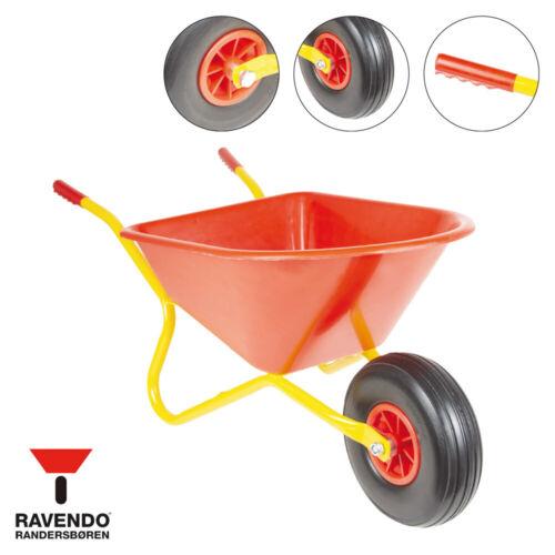 RAVENDO BJ350 Marken Kinderschubkarre Kinder Schubkarre PP-Mulde PU-Rad 35l