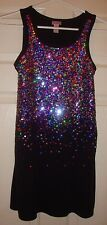 JUSTICE~girl's~CHRISTMAS/FANCY/SEQUIN/LINED/BLACK/DRESS! (10) BRAND/NEW! @ CUTE!