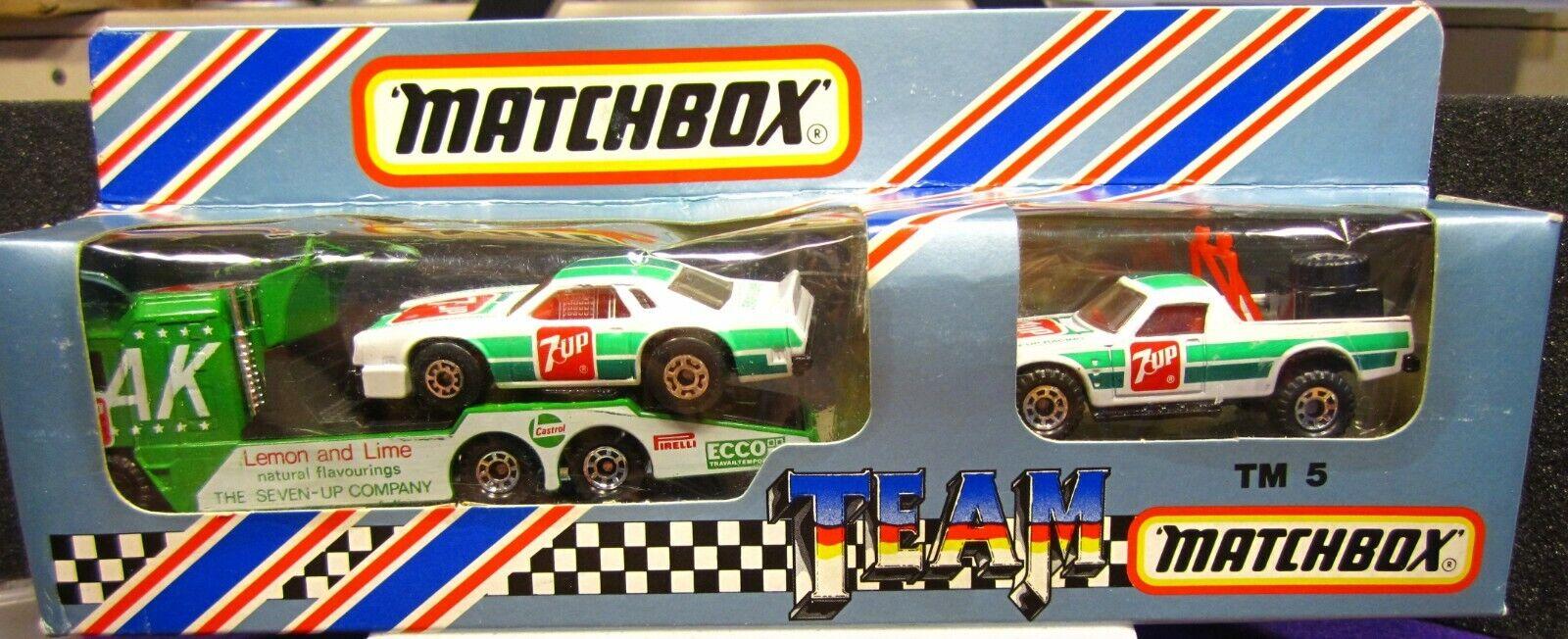 MATCHBOX TEAM CONVOY, 7-UP RACING SET, RUFF TREK, CHEVY STOCKER, KENWORTH  SET