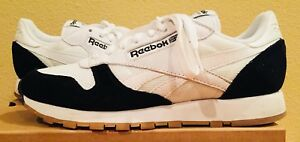 b48c131a8949bb REEBOK CLASIC CL LEATHER MENS 8 WHITE BLACK KENDRICK LAMAR Sneakers ...