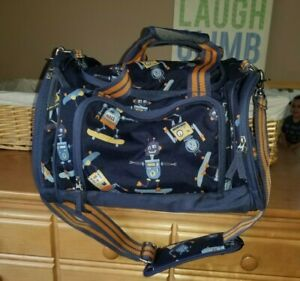 Pbk Boys Pottery Barn Kids Gear Robot Duffle Bag W