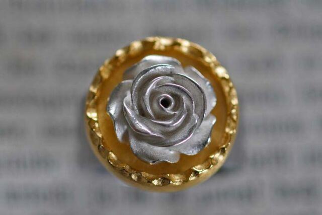 Wechsel Köpfchen mit edler Rose in massiv 925er Silber für Charlotte 21