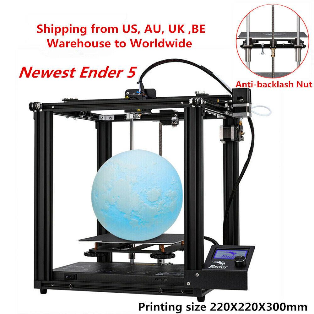 Newest Creality Ender 5 3D Printer 220X220X300mm 24V 2020 Valentine's Day Gift 220x220x300mm 24v Creality day ender gift newest printer