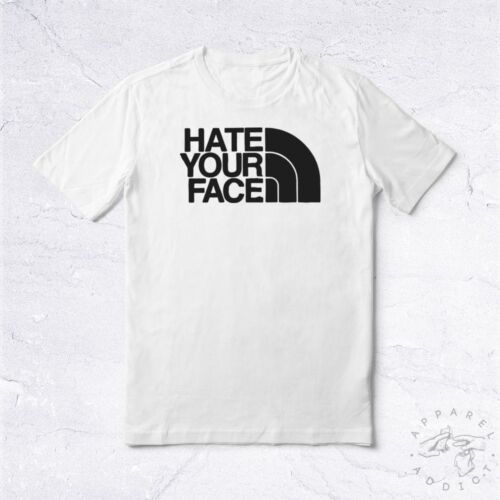 NEW Tee Shirt Hate Your Face BIO Brand Famous Hype Supreme Anti Social Rebel