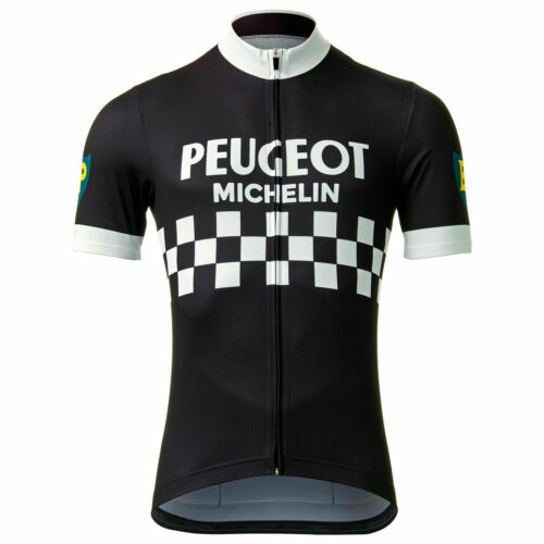 Brand New Retro Team Peugeot Black Cycling Jersey