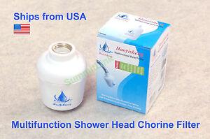 bathroom in line shower head filter water softener purifier chlorine remover ebay. Black Bedroom Furniture Sets. Home Design Ideas