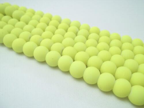 Nouvelle arrivée 4 mm 6 mm 8 mm verre 10 mm perles rondes fabrication de Bijoux-Vendeur Britannique