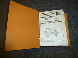 ford new holland 5110 5610 5900 6410 6610 tractor parts catalog rh ebay com
