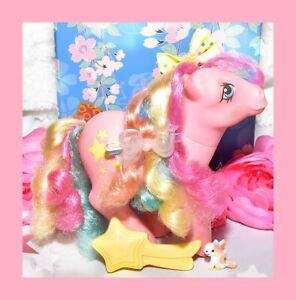 My-Little-Pony-MLP-G1-Vtg-Rainbow-Curl-Ponies-STRIPES-amp-Shooting-Star-Brush