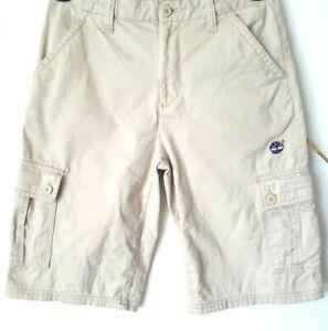 TIMBERLAND-BOYS-Size-14-100-COTTON-KHAKI-CARGO-SHORTS-10061-EUC