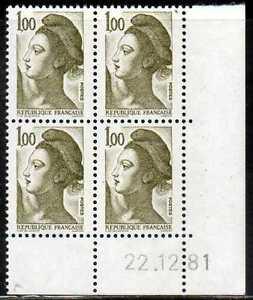 Coin Daté Liberté N° 2185 Du 22/12/1981 **