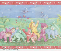 Pixies Pixy Elves Sprites Fairy Babies Adorable Baby Rolls Wallpaper Wall Border