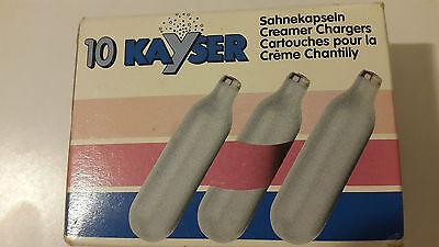 Kayser 1111 Cartucce Ricariche Per Sifone Monta Crema Chantilly panna Drip-Dry