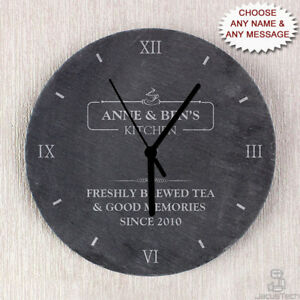 Details About Personalised Kitchen Clock Slate Wedding Or Housewarming New Home Gift Idea