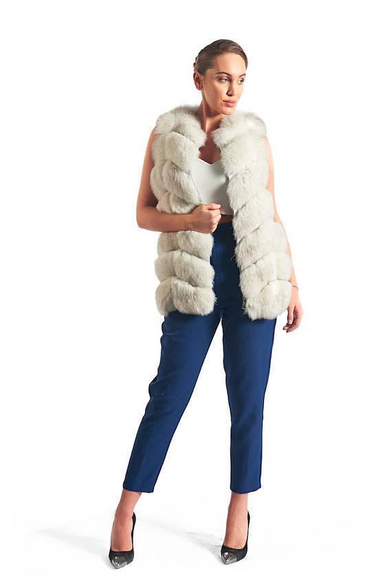 Luxy gåva Vit off Fox Fur Vest Kvinnor Brand ny Alla storlekar SAGA MEXAFORENCE