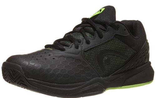 Head Men/'s Revolt Team 3.0 Black Green Tennis Shoe